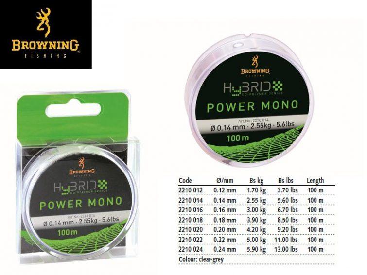 BROWNING HYBRID POWER MONO 100m